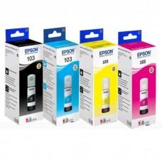 Набор контейнеров с чернилами №103 для новой 4-х цветной Фабрики печати Epson (4 шт.)