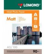 Бумага Lomond матовая 1х 90г,100л,А3 (0102011)