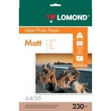 Фотобумага Lomond Матовая A4 230 г/кв.м. 50 листов (0102016)