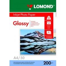 Фотобумага Lomond 200 г/м, глянец, А4 50л. Код 0102020