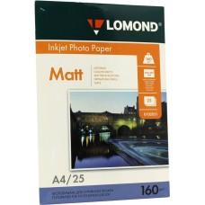 Фотобумага Lomond матовая 1*160г, 25л, А4 (0102031)