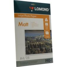 Фотобумага Lomond матовая 2*190г, 25л, А4 (0102036)