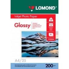 Фотобумага LOMOND A4, 200гр, Photo Глянцевая, 1стор. 25л (0102046)