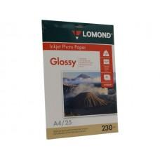 Фотобумага LOMOND A4, 230гр, Photo Глянцевая, 1стор. 25л (0102049)