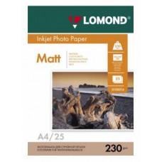 Фотобумага Lomond матовая 1*230г, 25л, А4 (0102050)