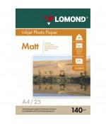 Фотобумага Lomond матовая 1*140г, 25л, А4 (0102073)