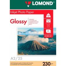 Фотобумага Lomond 230 г/м, глянец, А2 25л. (0102141)