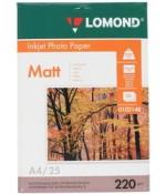 Фотобумага Lomond матовая 2*220г, 25л, А4 (0102148)