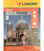 Фотобумага Lomond матовая 2х120г,250л,А4 для лазерн. (0300041)