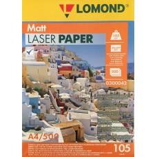 LOMOND Матовая фотобумага 2х105г,500л,А4 для лазерн. (300042)