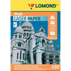 Фотобумага Lomond матовая двухстор. для полноцв. лазерной печати 350 г/м2, А4, 150л (0300143)