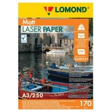 Бумага Lomond матовая 2х170г,250л, А3, для лазерн. принт. (0300231)