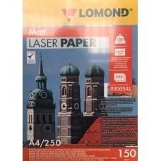 Фотобумага Lomond матовая 2х150г,250л,А4 для лазерн.  (0300541)