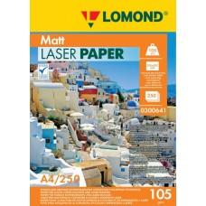 Фотобумага Lomond матовая 2х105г,250л,А4 для лазерн. (0300641)