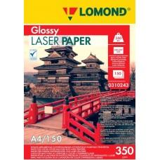 Фотобумага Lomond глянцевая двухстор. для полноцв. лазерной печати 350 г/м2, А4, 150л (0310243)