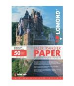 Термотрансферная бумага Lomond для лазерной печати, используется для светлых тканей, A3, 150 г/м2, 50 листов. (0807320)