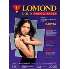 Бумага Lomond атласная баритовая 1х325г, 25л,А2 (1100204)