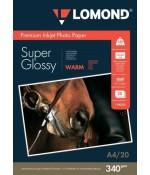 Бумага Lomond суперглянцевая 1х340г/20л,А4, Warm (1100301)