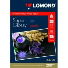 Фотобумага Lomond  с/глянцевая 1х200г/20л,А4 (1101112)