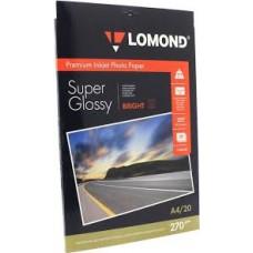 Бумага Lomond суперглянцевая 1х270г,20л,А4, Bright (1106100)