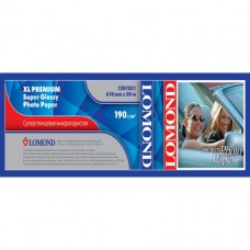 Рулонная фотобумага Lomond XL Premium Super Glossy Photo Paper 610мм*50,8 мм, 190 г/м2, 30 м (1201031)