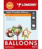 Воздушные шары Lomond А4 Шар/Сердце/Звезда, для струйной печати 1500103