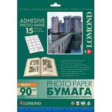 Бумага Lomond Самоклеящаяся 15 дел. 40х50мм A4 90 г/м2 25л. (2212063)