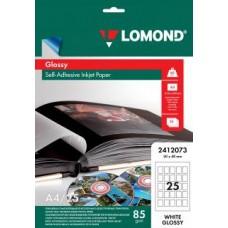 Фотобумага Lomond глянцевая самок., A4, 25 дел. 3х4 25 листов (2412073)