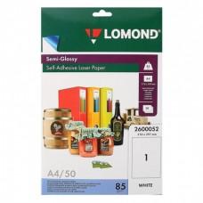 Бумага Lomond адр. накл. полуглянцевая 85гр,А4(1400л/кор),для лазер (ПО16249)