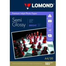 Lomond Полуглянцевая A4 185 г/кв.м. 20 листов (1101306)