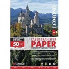 Термотрансферная бумага Lomond для лазерной печати, используется для светлых тканей, A4, 150 г/м2, 50 листов. (0807420)