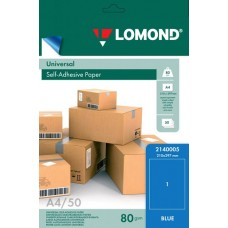 Lomond Самоклеющаяся А4 70 г/кв.м. 50 л, цвет голубой (2140005)