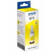 Контейнер с чернилами Epson T6734, желтый (C13T67344A)