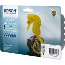Картридж для принтера Epson EPT04874010 (C13T04874010) (Набор 6шт х 13мл.)