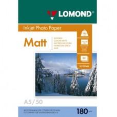 Фотобумага Lomond мат 1*180г,50л,А5 (210х148мм) (0102068)
