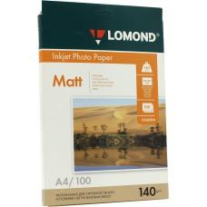 Фотобумага Lomond матовая 1*140г,100л,А4 (0102074)