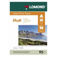 Фотобумага Lomond односторонняя матовая фотобумага для струйной печати, A3, 95 г/м2, 100 л. (0102129)