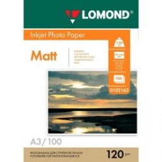 Фотобумага Lomond матовая 1*120г,100л,А3 (0102162)