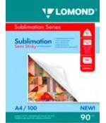 Фотобумага Lomond полулипкая сублим. A4,90г/м2,100л (0809414)