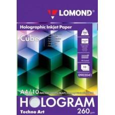 """Фотобумага  Lomond Techno Art Hologram """"Cube""""(Куб), А4,260 г/м2(0902041)"""