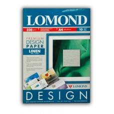 Бумага Lomond Лён (Linen), Глянцевая, A4, 230 г/м2, 10л (0934041)