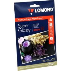 Фотобумага Lomond c/глянцевая 1*200г, 20л, 10х15 (1101113)