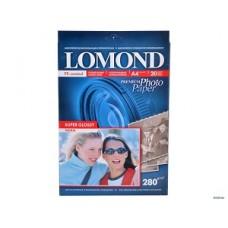 Фотобумага Lomond суперглянцевая, тепло-белая, A4 280 г/кв.м. 20 листов (1104101)
