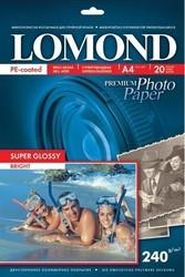 Lomond Суперглянцевая ярко-белая A4, 240 г/кв.м. 20 л. (1105100)