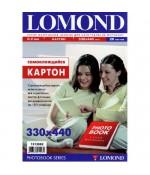 Картон Lomond самокл. двухстор. 330х440мм, 170 г/м2,0.2 мм, 20л(1513002)