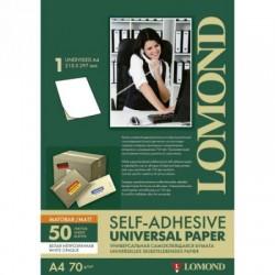 Бумага Lomond Самоклеящаяся непрозачная А4 70 г/кв.м. 50 листов (2000005)
