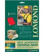 Lomond Самоклеющаяся А4 80 г/кв.м. 50 л, цвет красный неон (2010005)