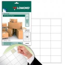 Lomond самоклеящаяся A4, 18 шт. (66.7 x 46 мм), 70 г/м2 (2100135)