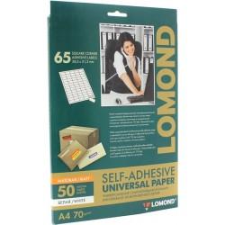 Бумага Lоmond адр.накл UNIV,65-дел,38 х 21.2 мм,50л,А4 (2100215)