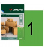 Lomond Самоклеющаяся А4 70 г/кв.м. 50 л, цвет зеленый (2120005)